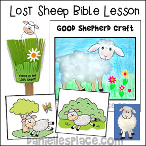 Lost Sheep Bible lesson from www.daniellesplace.com