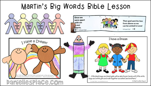 Martin Luther King, Jr. Bible lesson for children from www.daniellesplace.com