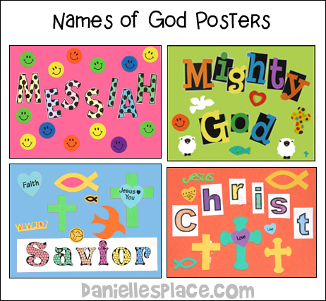Names for God Posters Craft from www.daniellesplace.com