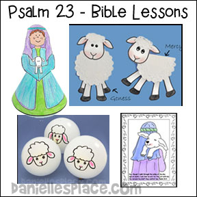 Pslams 23 Bible Lesson Series for Sunday School from www.daniellesplace.com