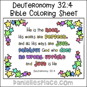 He is the Rock Bible Verse Color Sheet