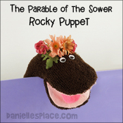 Rocky Puppet for The Parable of the Sower Bible Lesson