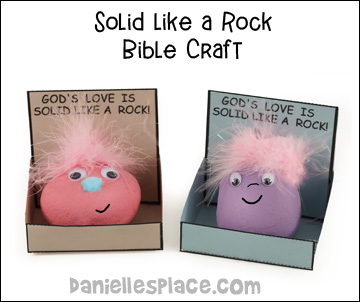 Solid Like a Rock Bible Craft