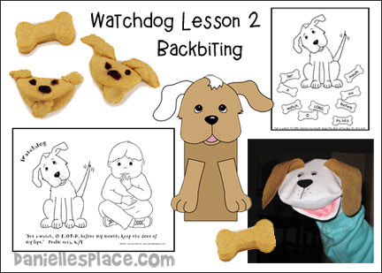 Backbiting - Watchdog Lesson 2 - from www.daniellesplace.com