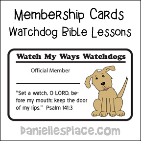 Watchdog Membership Cards from www.daniellesplace.com