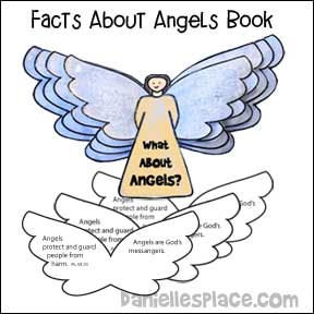 """What About Angels?"" Printable Book Craft for Children's Ministry from www.daniellesplace.com"
