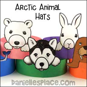 Arctic Animals Hat Craft for Kids from www.daniellesplace.com