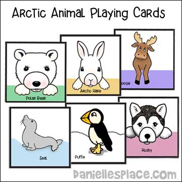 Arctic Animal Playing Cards include twelve different animals from www.daniellesplace.com