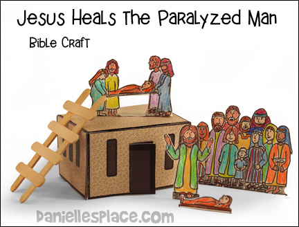 Jesus Heals the Paralyzed Man Bible Craft from www.daniellesplace.com
