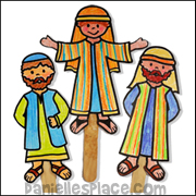 Bewitching image within bible character puppets printable