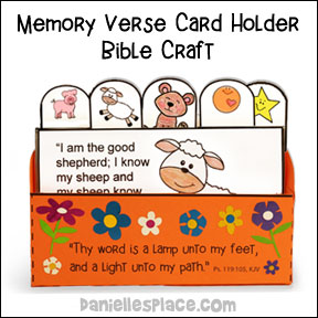Memory Verse Card Hold Craft from www.daniellesplace.com