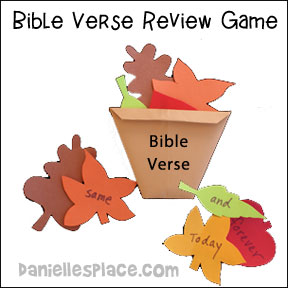 Fall Leaves Bible Verse Review Game from www.daniellesplace.com