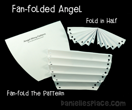 Fan-folded Angel Craft Diagram from www.daniellesplace.com