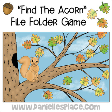 """Find the Squirrel"" File Folder Review Game from www.daniellesplace.com"