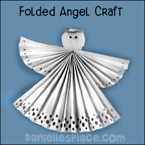 Fan-folded Angel Craft for Children's Ministry from www.daniellesplace.com