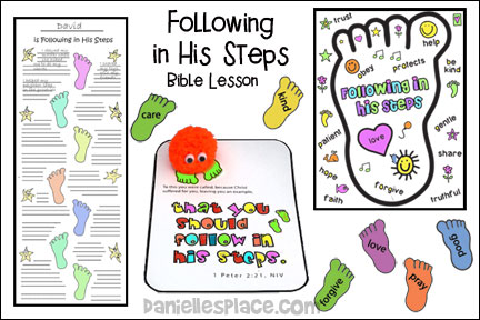 Following in His Footsteps Bible Lesson for Sunday School and Children's Ministry