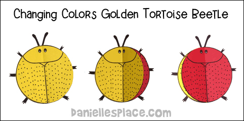 Golden Tortoise Beetle Paper Craft from www.danillesplace.com