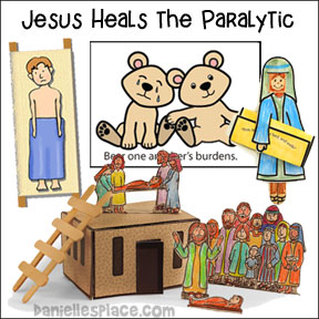Jesus Heals the Paralyzed Man Bible Crafts and Lesson from www.daniellesplace.com