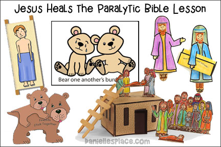 Jesus Heals the Paralyzed Man Bible Lesson for Children from www.daniellesplace.com