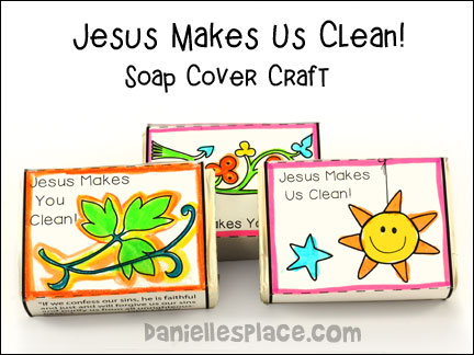 Jesus Makes Us Clean - Soap Cover Bible Craft for Sunday School from www.daniellesplace.com