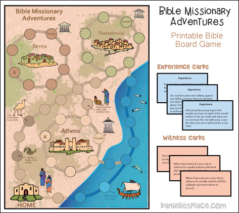 Bible Missionary Adventures Printable Bible Board Games from www.daniellesplace.com