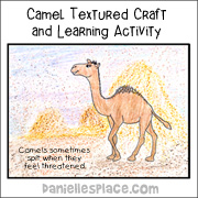 Camel Textured Craft and Learning Activity