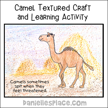 Camel texture craft and Learning Activity from www.daniellesplace.com