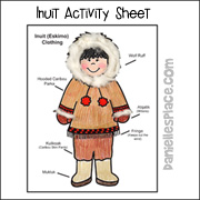 Eskimo Activity Sheet