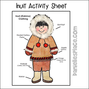 Eskimo Activity Sheet - What do Eskimos Where?