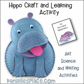 Hippo Paper Plate Craft and Learning Activity for Children from www.daniellesplace.com
