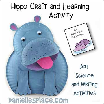 Hippo Craft and Learning Activity - Science, Art and Writing