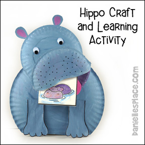Paper Plate Hippo Craft and Learning Activity - Science Math and writing  sc 1 st  Danielleu0027s Place & Hippopotamus Crafts and Learning Activities