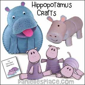 Hippopotamus Crafts and Learning Activities