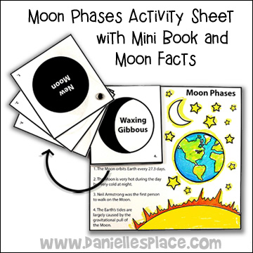 Moon Phases Activity Sheet with Mini Book and Moon Facts