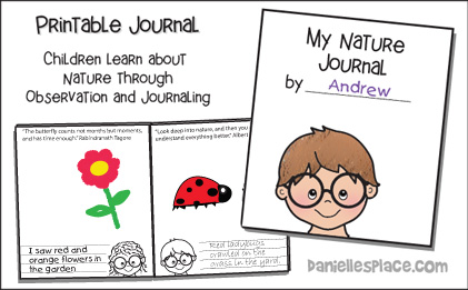 Printable Nature Journal for Children - Children learn to observe and draw and write about what they see