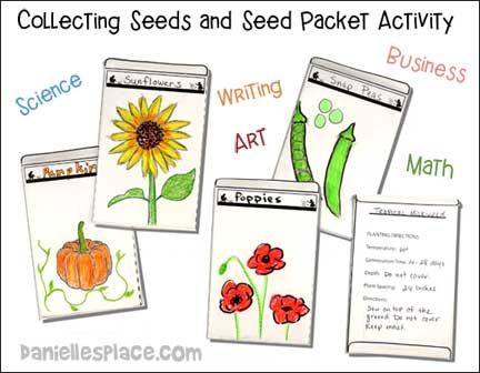 Seed Packet garden craft for kids