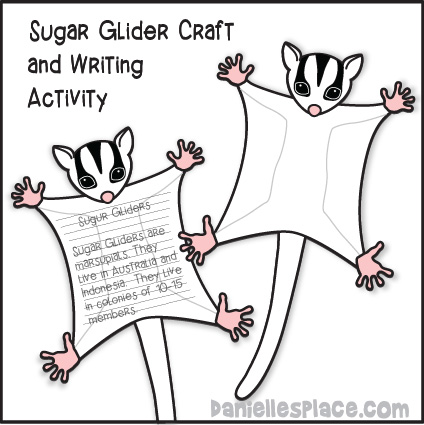 Sugar Glider Craft and Writing Activity