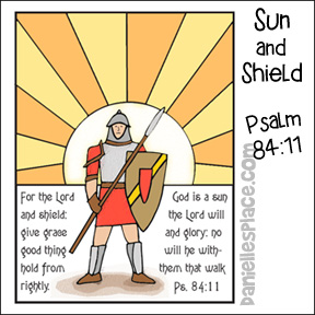 """You are a Sun and Shield"" Psalm 84:11 Coloring Sheet from www.daniellesplace.com"