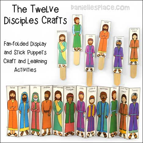Twelve Disciples Bible Crafts