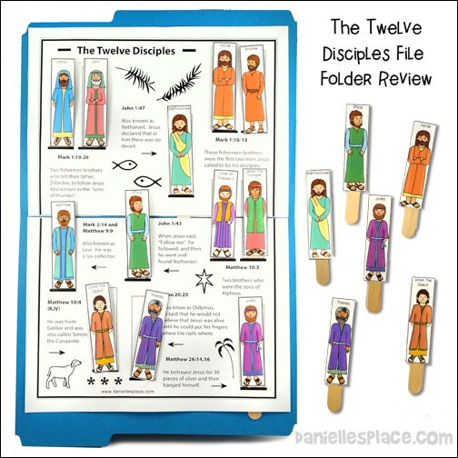 The Twelve Disciples File Folder Review Game and Activity