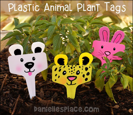 Plastic Animal Plant Tags Craft for Kids from www.daniellesplace.com