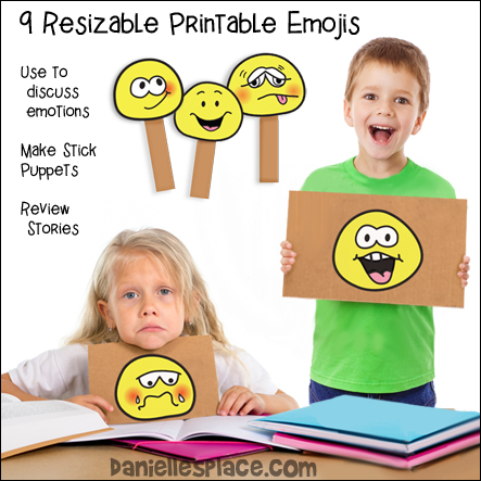 Nine Emoji Printables - Use these creative writing activities to encourage children to talk about their emotions, to be more aware of how they are feeling and to teach them how to express their feelings more effectively in their writing and speech.