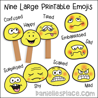 graphic relating to Emoji Feelings Printable named Feelings and Emotions Crafts and Things to do