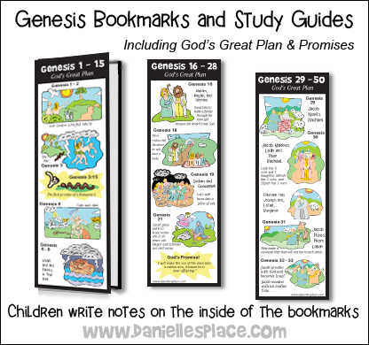 Genesis Bookmards and Study Guides