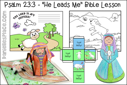 Psalm 23:3 Bible Lesson for Children from www.daniellesplace.com