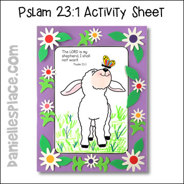 Psalm 23:1 Activity Sheet for Psalms 23 Bible lesson on www.danielliesplace.com