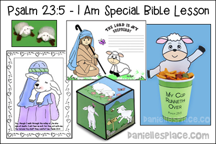 "Psalm 23:5 ""I am Special"" Bible Lesson for Children from www.daniellesplace.com"
