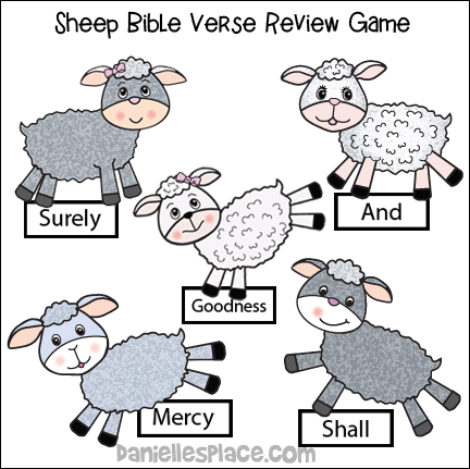 Sheep Bible Verse Review Game