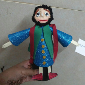 Stick Puppet Made by Rajinder Kainth from www.daniellesplace.com