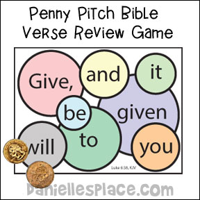 Penny Pitch Bible Verse Review Game from www.daniellesplace.com